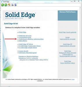 Solid Edge telepítő